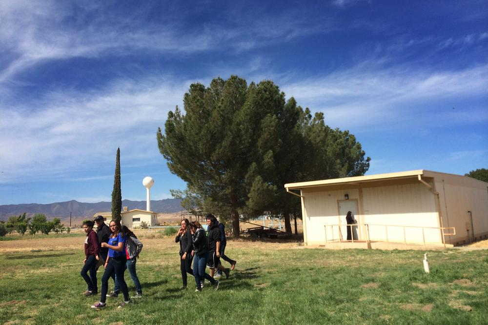 California: Students leave class after taking part in new Common Core-aligned standardized tests at Cuyama Valley High School. While the Common Core education standards provoked political backlash and testing boycotts around the country this year, Califor