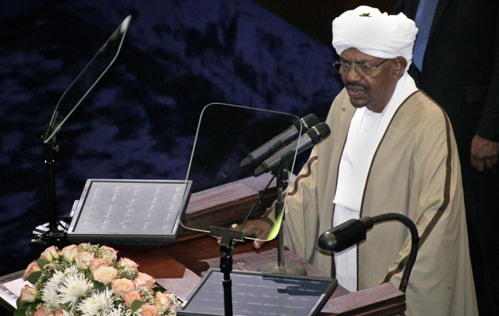 Sudan's President Omar al-Bashir, seen here at the Sudanese National Assembly in Khartoum on June 2, was re-elected in a landslide that extended his 25-year rule. Bashir, who took power in a 1989 coup, is the only sitting head of state facing genocide cha