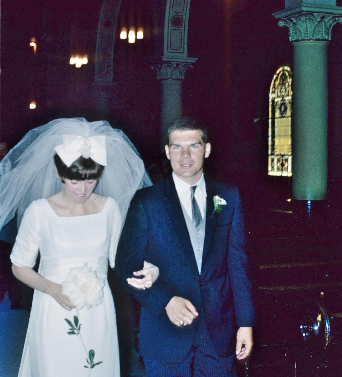 Elaine Zimmer Davis and Jerry Zimmer were married in June, 1966.