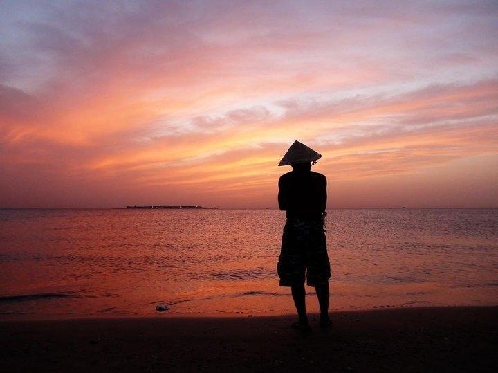 The beach man