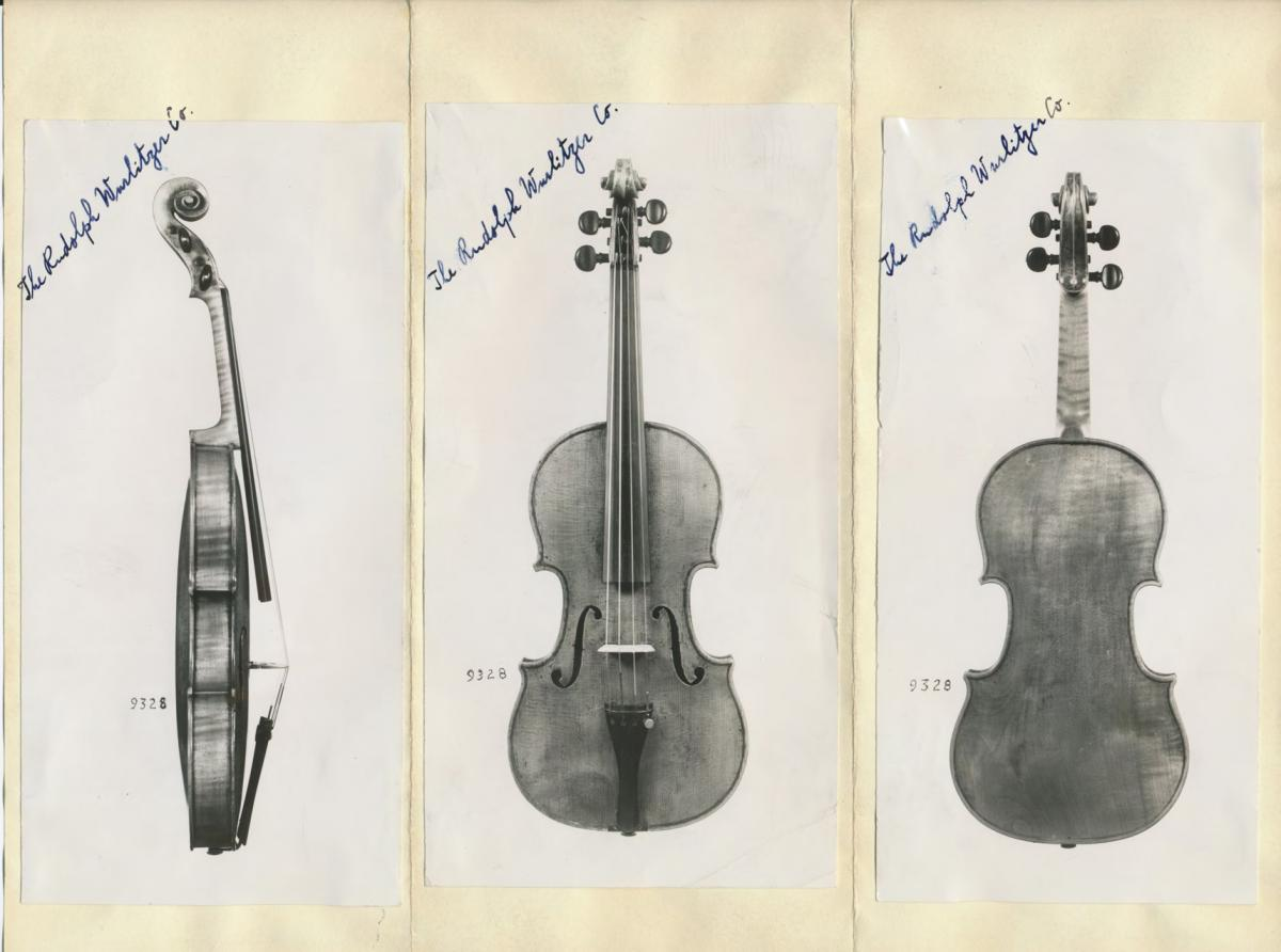 Documentation of Roman Totenberg's Stradivarius violin. The instrument went missing after one of Roman's concerts but was rediscovered more than three decades later.