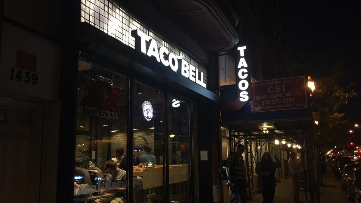 "You'd never know it was a Taco Bell, except for the big sign that says ""Taco Bell."""