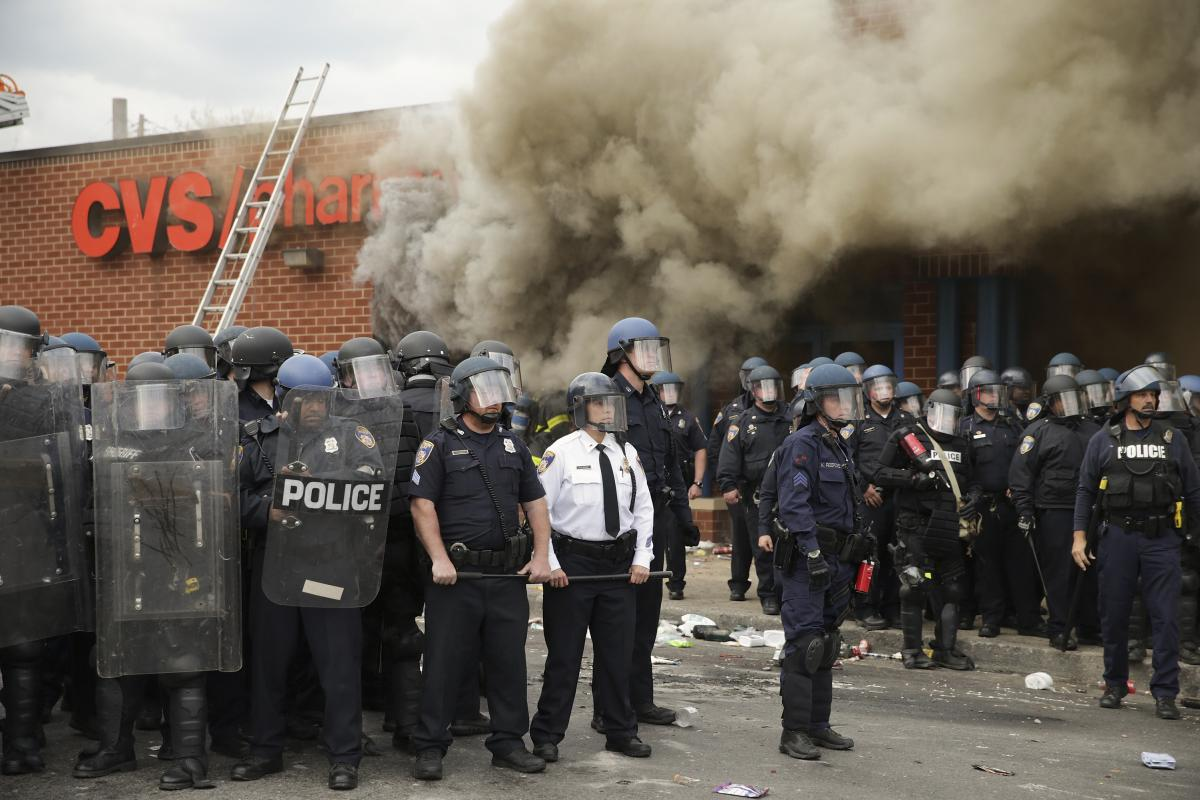 In a news conference, Baltimore Mayor Stephanie Rawlings-Blake said there was a big difference between what happened on Monday and the peaceful protests that have taken place over the past week.