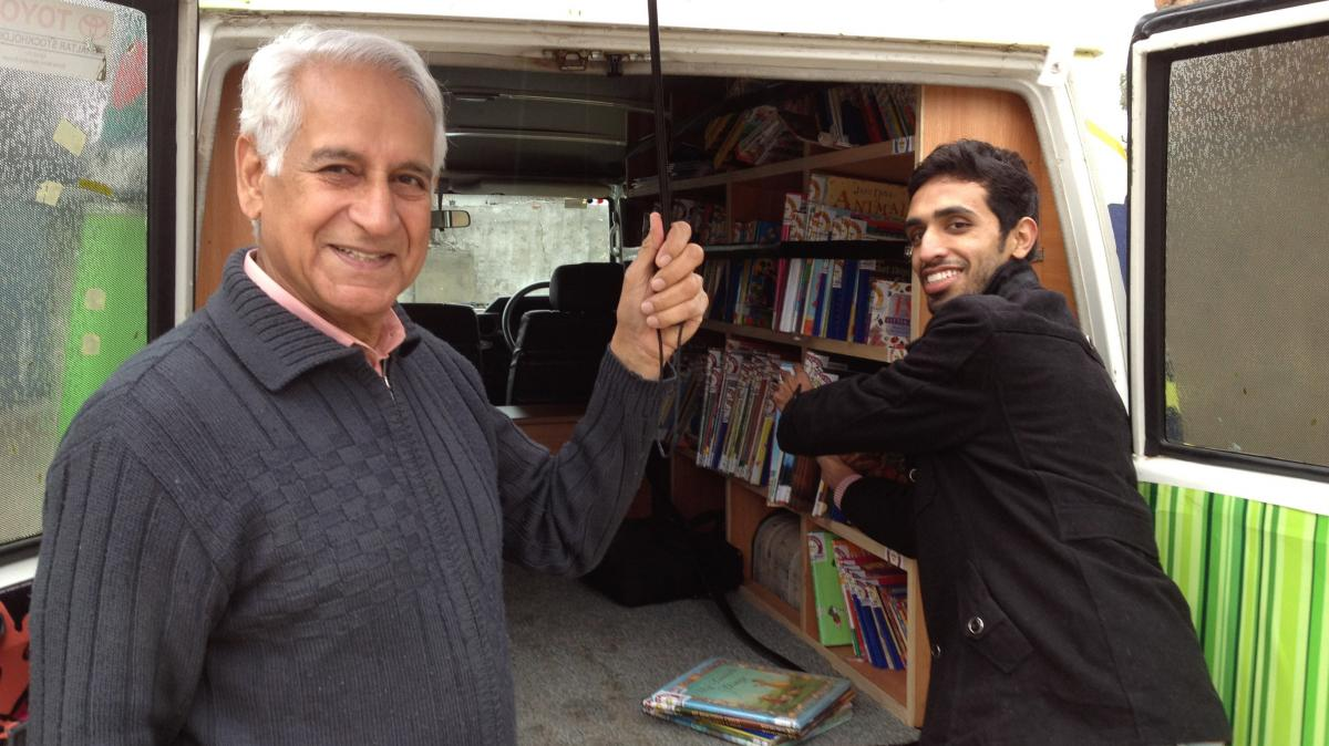 After decades living and working abroad, Saeed Malik (left) returned to his native Pakistan and wanted to do something to help rectify what he saw as a poor education system. He founded the Bright Star Mobile Library, which now serves about 2,500 children