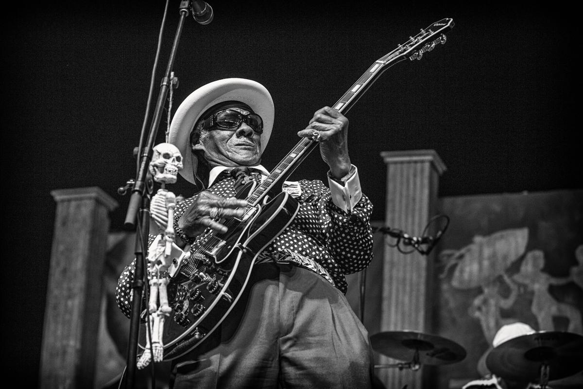 Little Freddie King at the New Orleans Jazz & Heritage Festival, 2013, photographed by Skip Bolen.