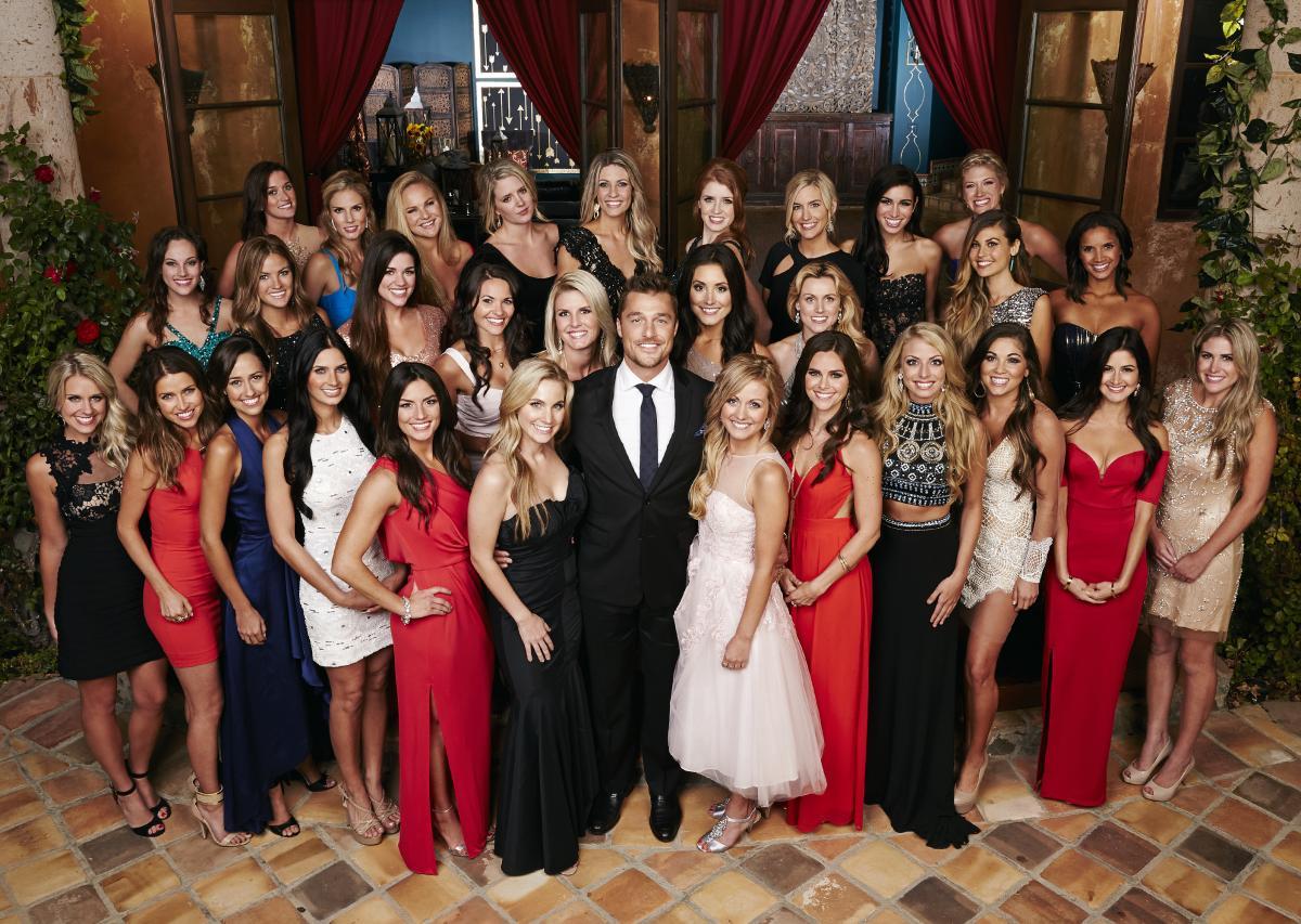 Last season's Bachelor Chris Soules and his 30 suitors.