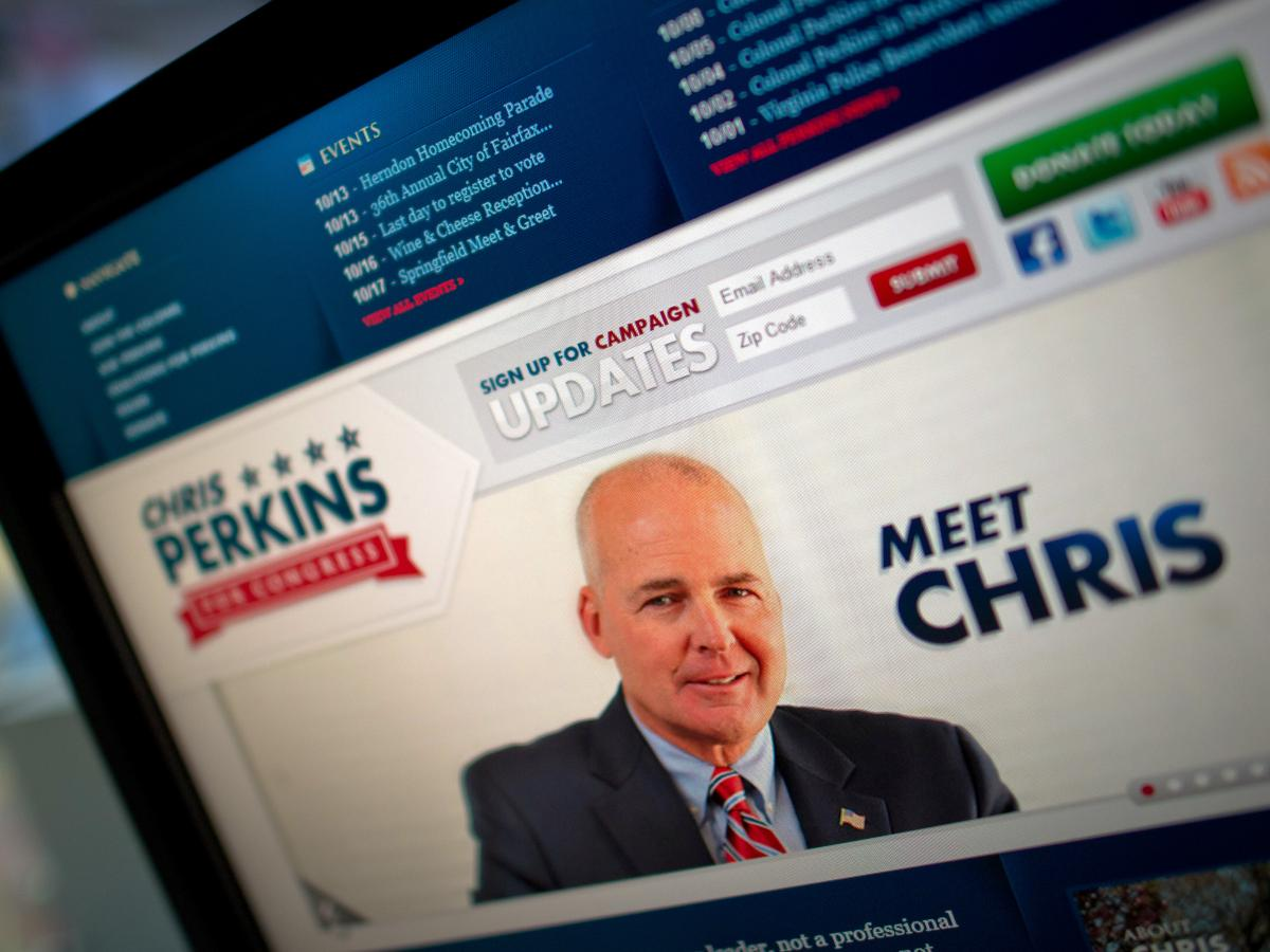In 2012, Harber was hired by Chris Perkins, a first-time Republican candidate challenging longtime Democratic Rep. Gerry Connolly in Northern Virginia. He also controlled a superPAC that ran ads supporting Perkins and took a big commission on those ads.