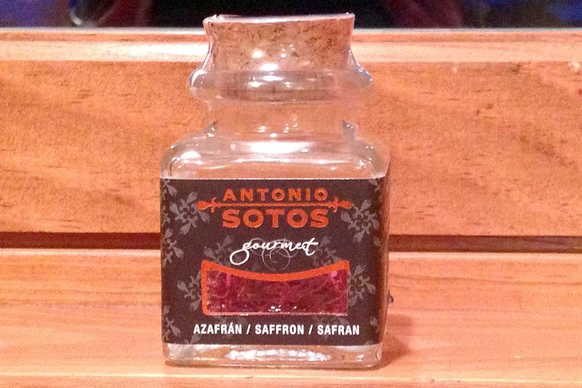 An unopened jar of saffron, submitted to Cook Your Cupboard by Lennet Radke.