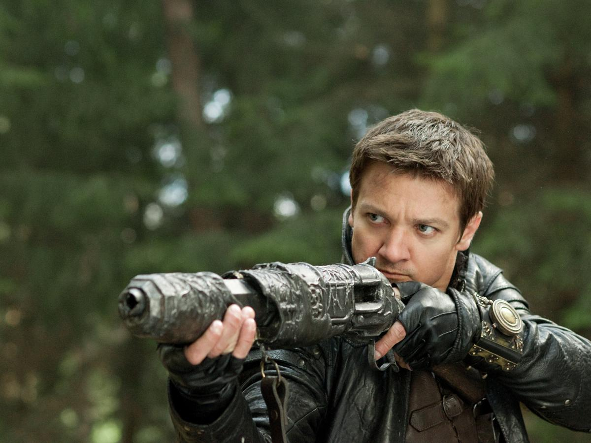 Jeremy Renner's Hansel (from January's Hansel and Gretel: Witch Hunters) was himself a grown-up fairy tale character gone rogue, using guns and firepower to take revenge on witches everywhere.