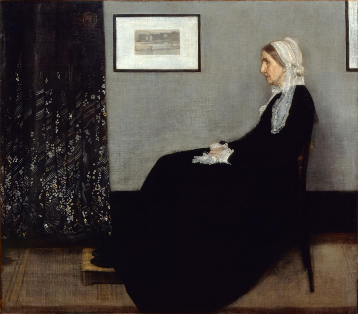 """James McNeill Whistler's mother — immortalized in his 1871 painting Arrangement in Grey and Black No. 1: Portrait of the Artist's Mother — worried about all the time and energy her son was pouring into the Peacock Room. """"A gentleman's house isn't an e"""