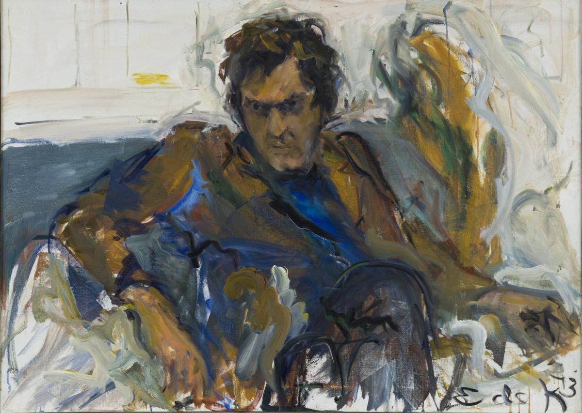 Elaine de Kooning's 1973 portrait shows a scowling Robert de Niro Sr.