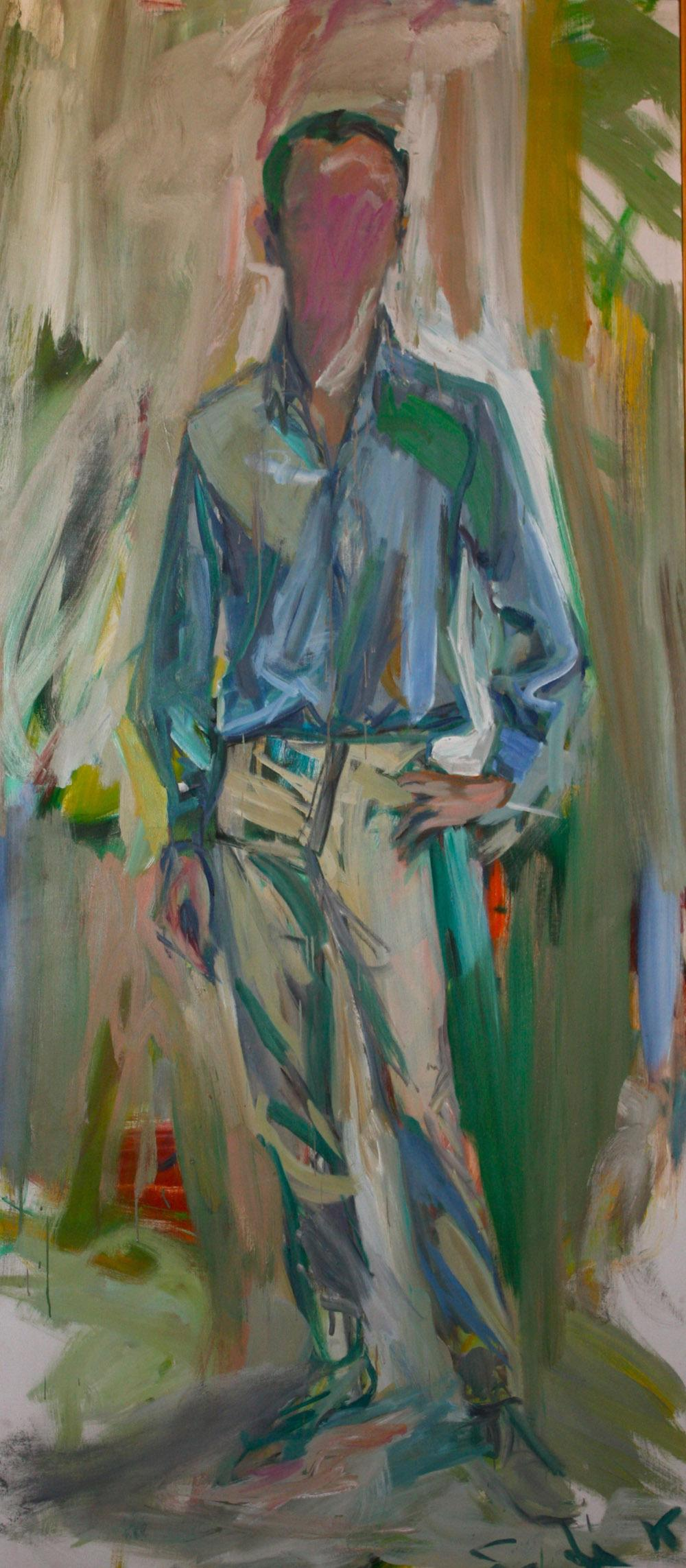 """De Kooning believed that """"the pose was the person"""" — and created a portrait of poet Frank O'Hara that does not show his face."""