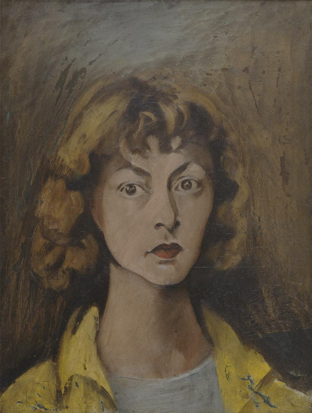 """When asked what it was like to work in the shadow of her husband, Willem de Kooning, Elaine de Kooning, shown above in a self-portrait, replied """"I don't paint in his shadow, I paint in his light."""""""