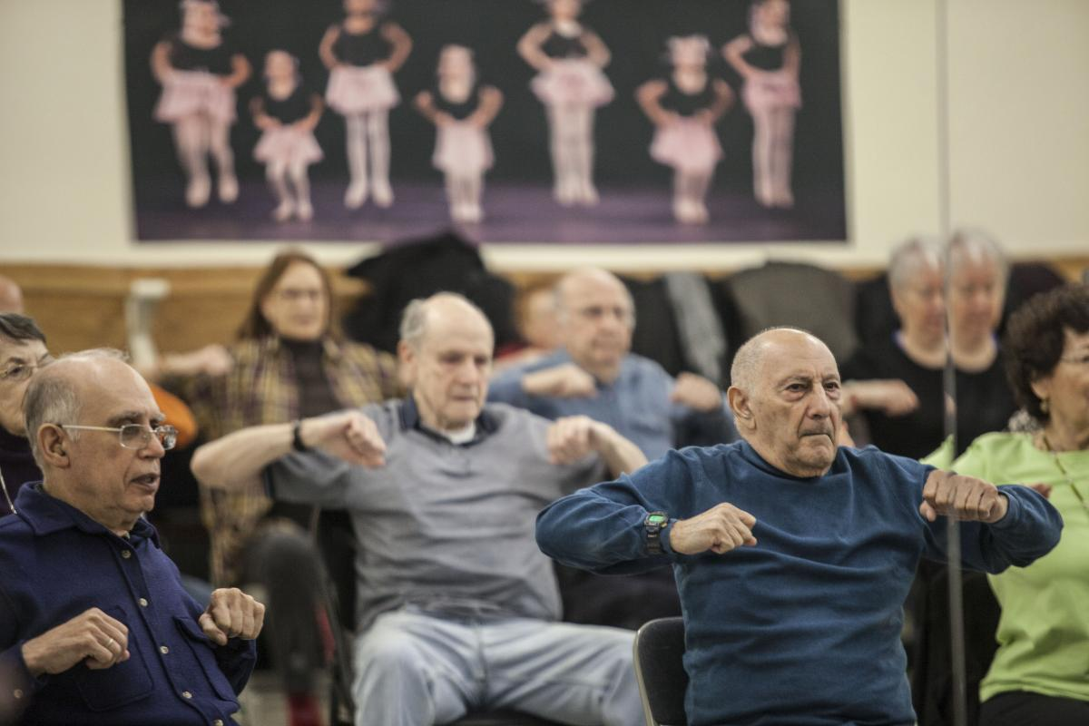 David's classes help seniors stretch and flex every part of their bodies.