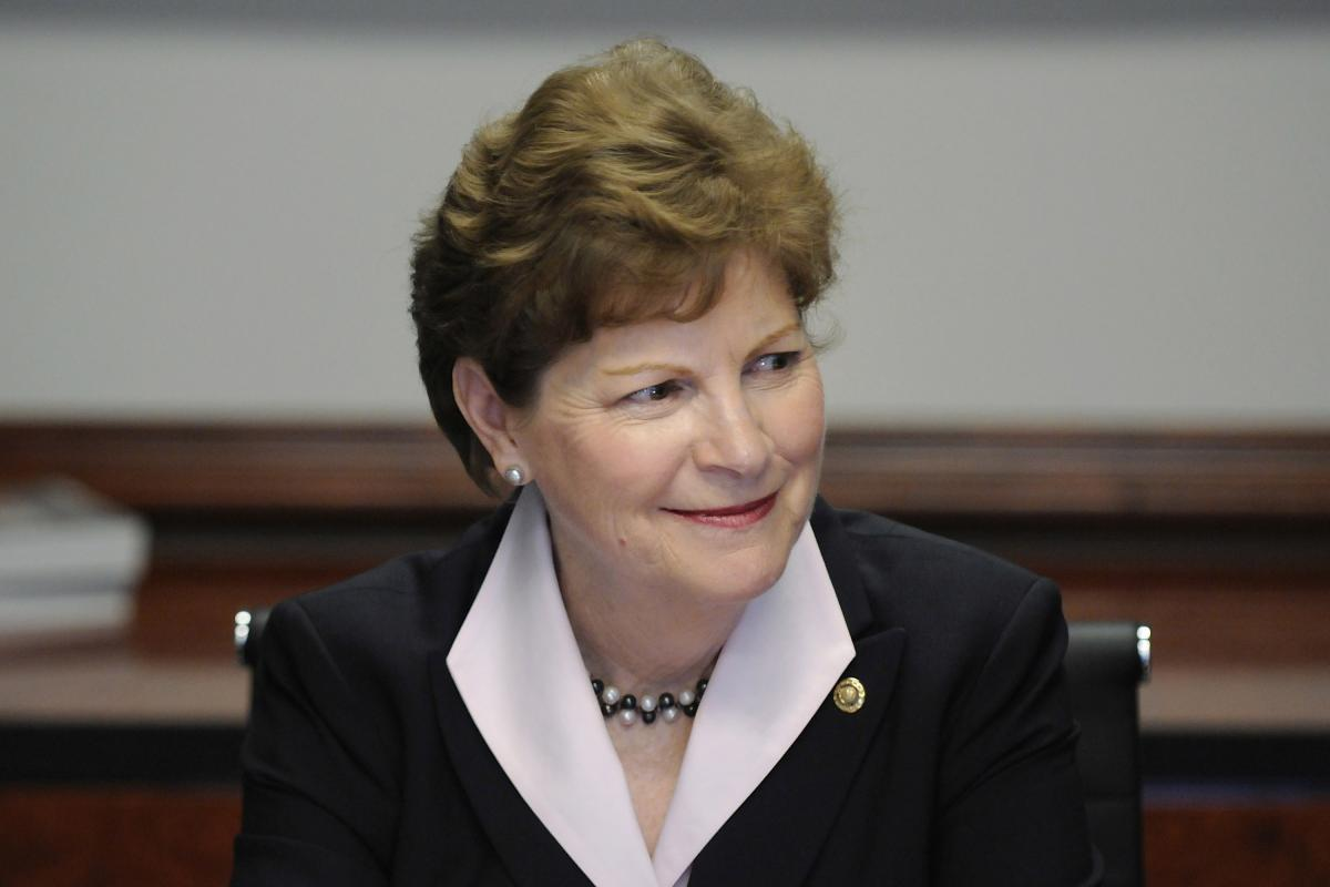 Sen. Jeanne Shaheen, D-N.H., appears at the Reuters Washington Summit last year.