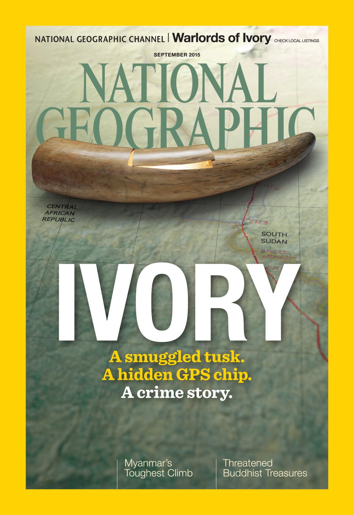 Journalist Bryan Christy traces the path of Africa's ivory smugglers in the cover story of National Geographic Magazine's September 2015 issue.
