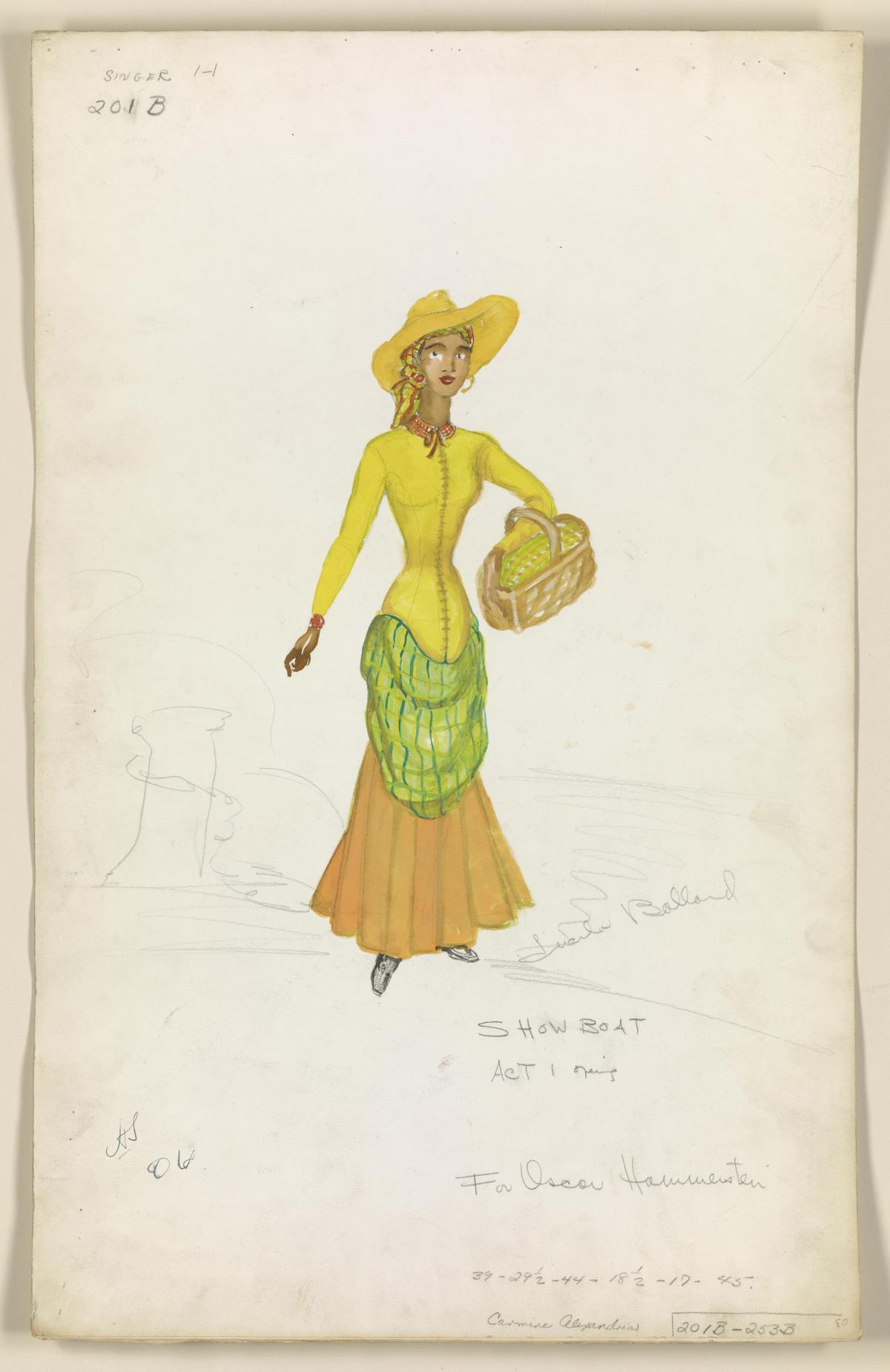 Lucinda Ballard's costume design for the 1946 revival of Show Boat.