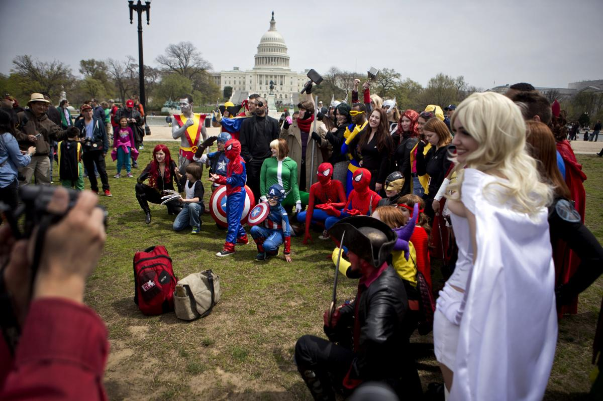 Ultimately, the group fell short of the record, but not for lack of superhero power.