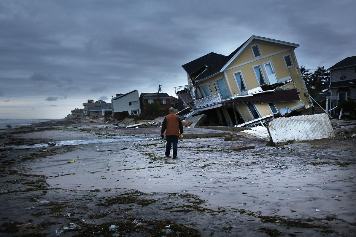 In one Rockaway neighborhood the historic boardwalk washed away during the storm.