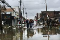 The Rockaway section of Queens, in New York City, was hit hard by Superstorm Sandy. Many people in the neighborhood, shown here on October 30, 2012, lost power.