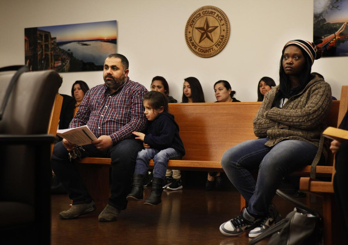 Zaid Yassin and his 5-year-old daughter, Fatima, came to Travis County Court in Austin, Texas, to defend Fatima's 23 missed days of school.
