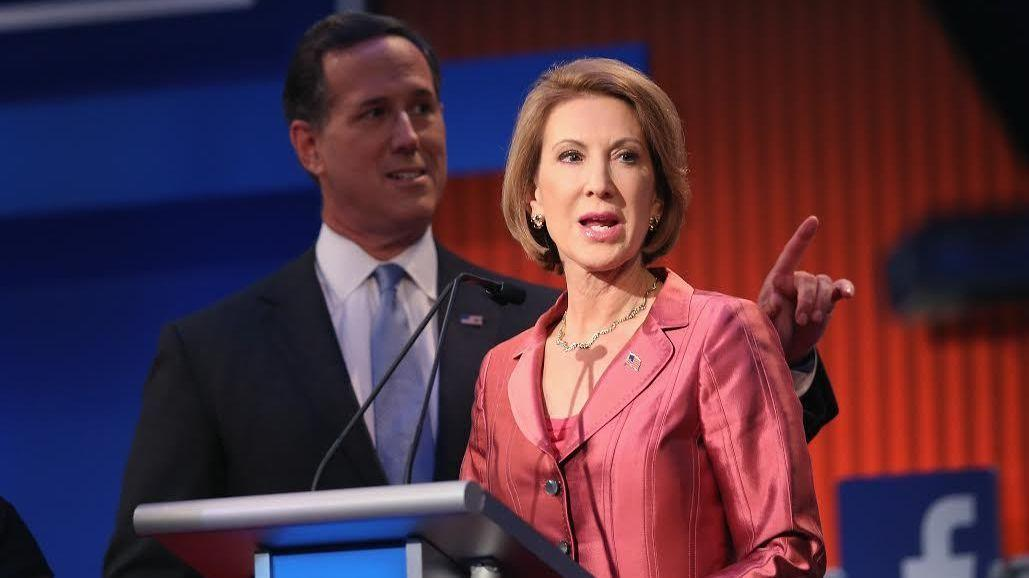 Businesswoman Carly Fiorina was an apparent standout from the earlier candidate debate. While she did not have a chance onstage with Trump, her question for him was perhaps the best of either session.