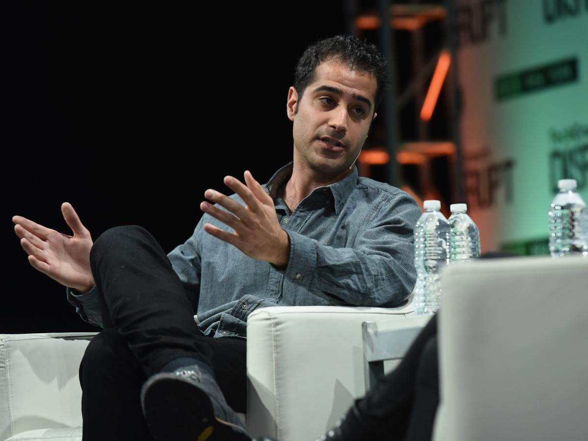 "Kayvon Beykpour, co-founder and CEO of Periscope, speaks during the TechCrunch Disrupt conference May 5 in New York City. He says that with live video apps such as Periscope, ""the world has accepted that these capabilities exist."""