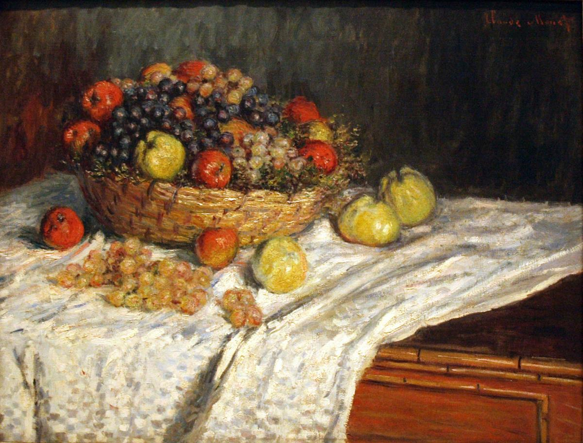 Monet's Apples and Grapes, circa 1879-80