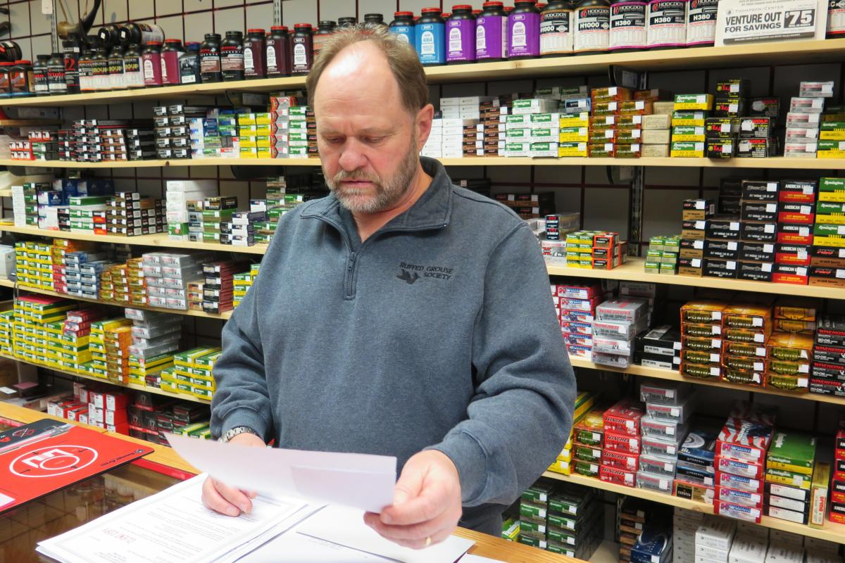 """Doug Ellis has owned Virginia Surplus for 25 years in Virginia, Minn. """"My business is built on mining money,"""" he said, and will feel the impacts of impending mine layoffs."""
