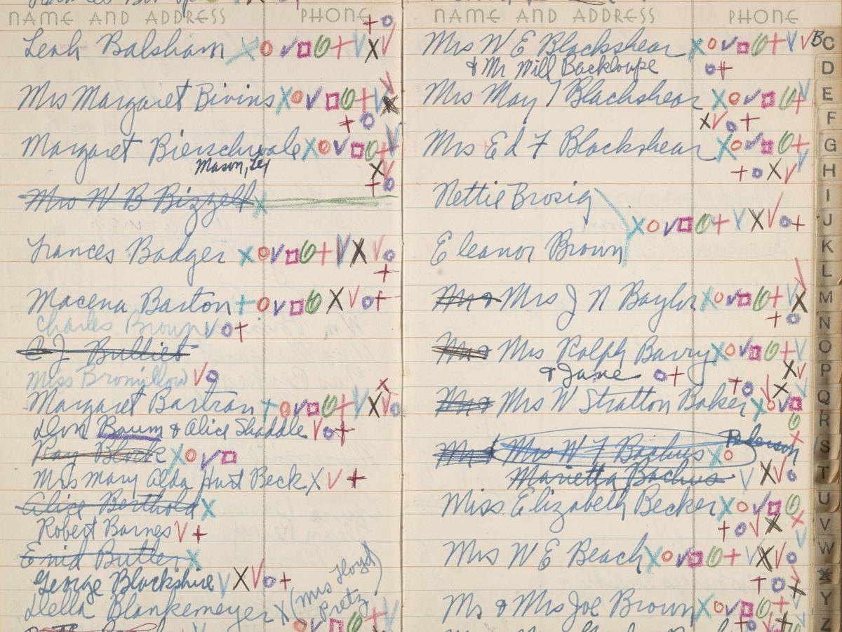 Kathleen Blackshear's address book, 1947-1957
