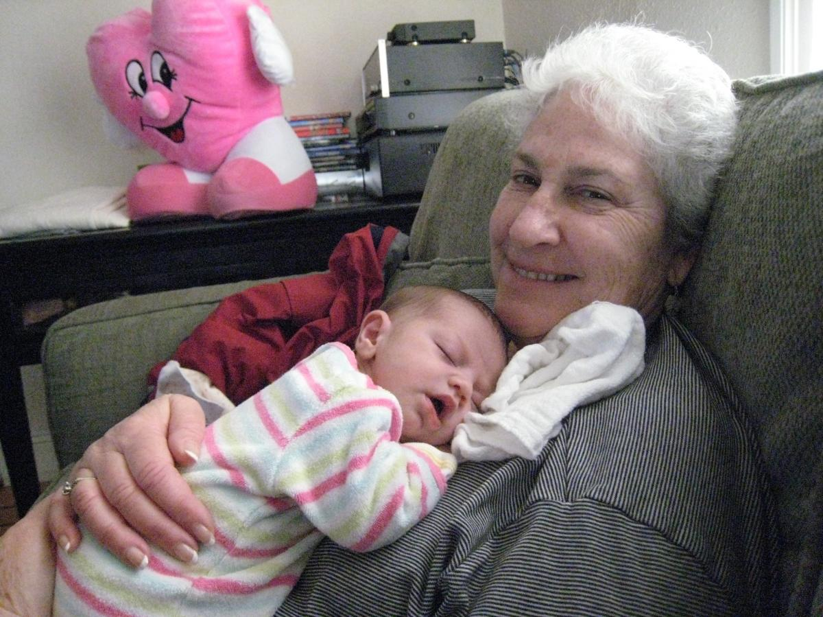 Kirsch with her granddaughter Sophie.