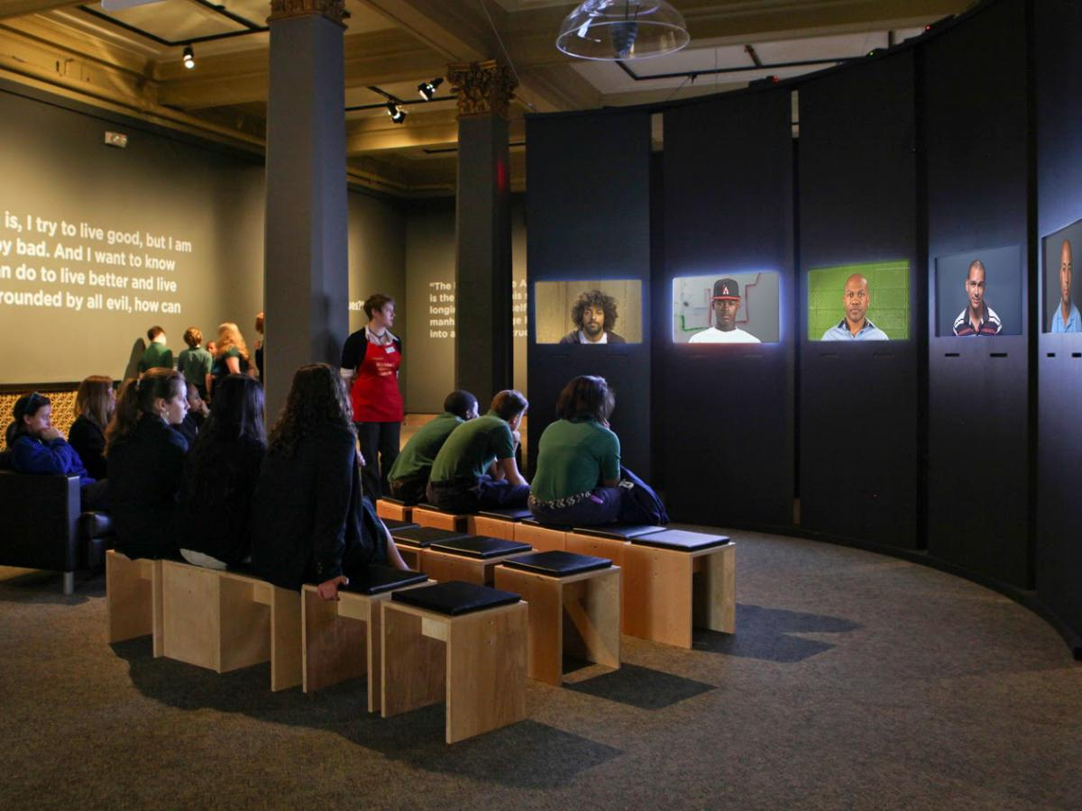 """""""Question Bridge: Black Males"""" traveled to museums across the country, but is now a website and mobile app where black men can upload their own videos."""