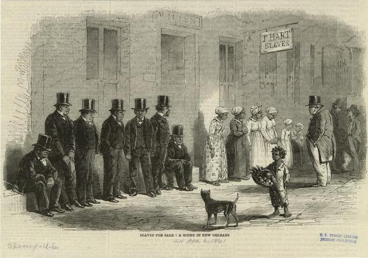 Slaves For Sale: A Scene In New Orleans