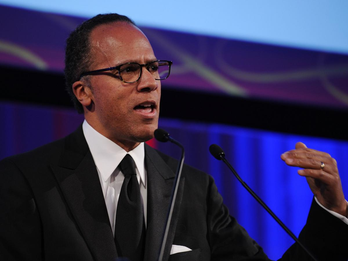 Lester Holt, seen here speaking onstage in 2010, has anchored NBC Nightly News since Brian Williams' suspension and will reportedly continue as anchor following Williams return.