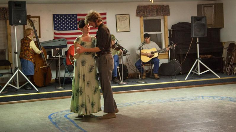 A couple takes to the floor in Harmon, W.Va., in 2012. West Virginia is trying to revitalize its square-dance tradition.
