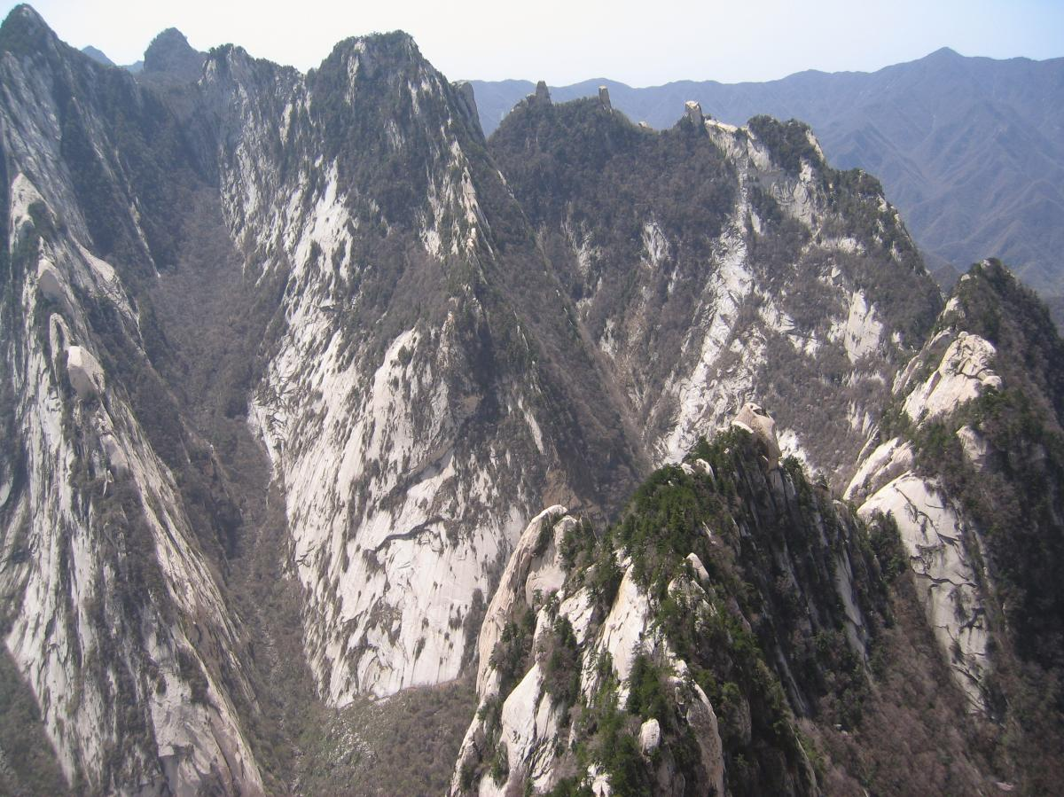 Mount Hua, one of China's five sacred mountains, is a hub of Taoism.