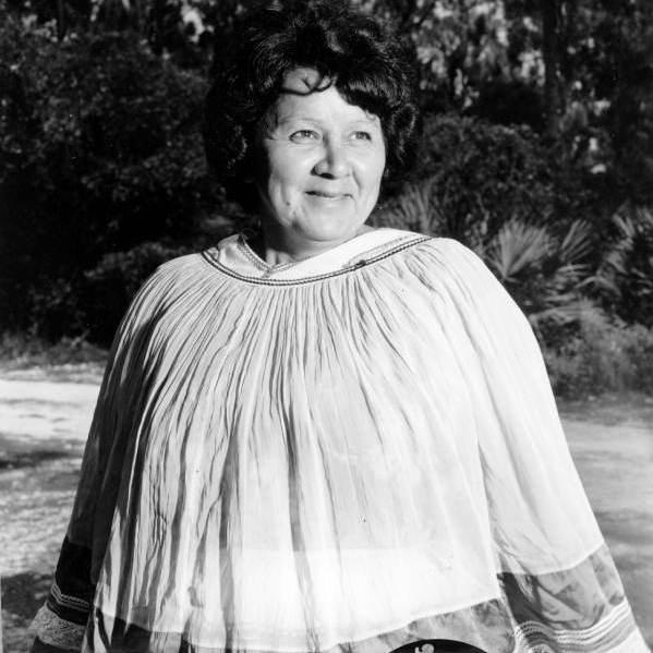 Betty Mae Jumper, first female chairperson of the Seminole Tribe of Florida, in 1967.