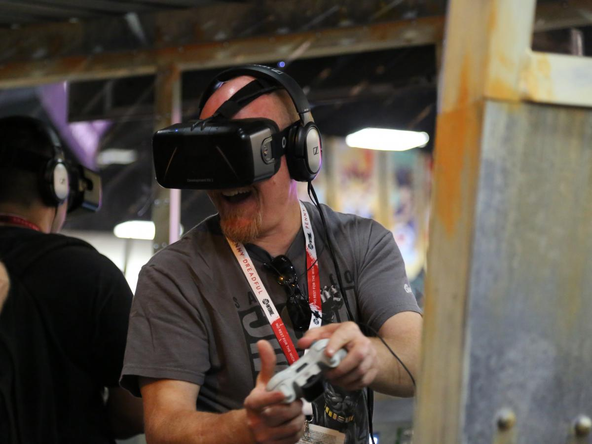 Virtual reality headsets are a big trend this year — but they're not for the faint of stomach.