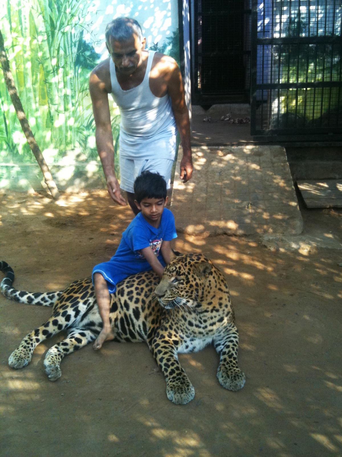 Prakash Amte and his grandson