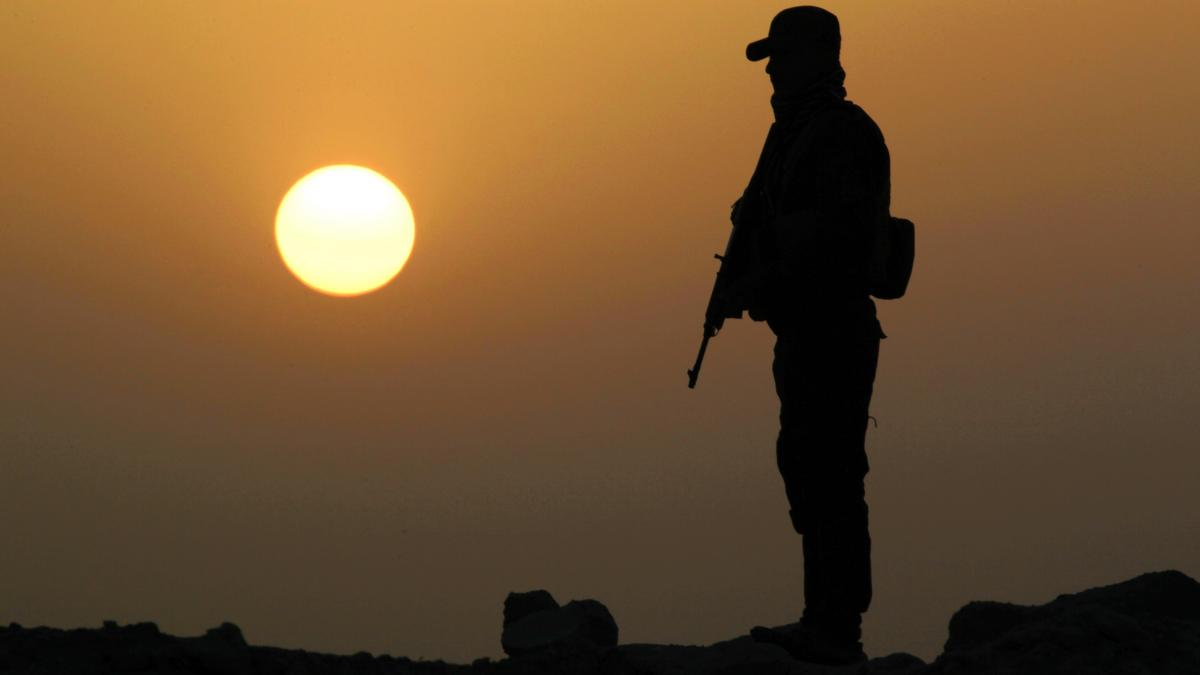 A member of Iraqi government forces in position against the so-called Islamic State.
