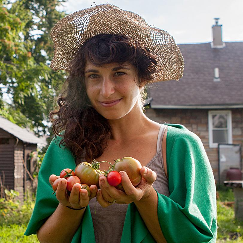 Artist and urban farmer Kate Daughdrill