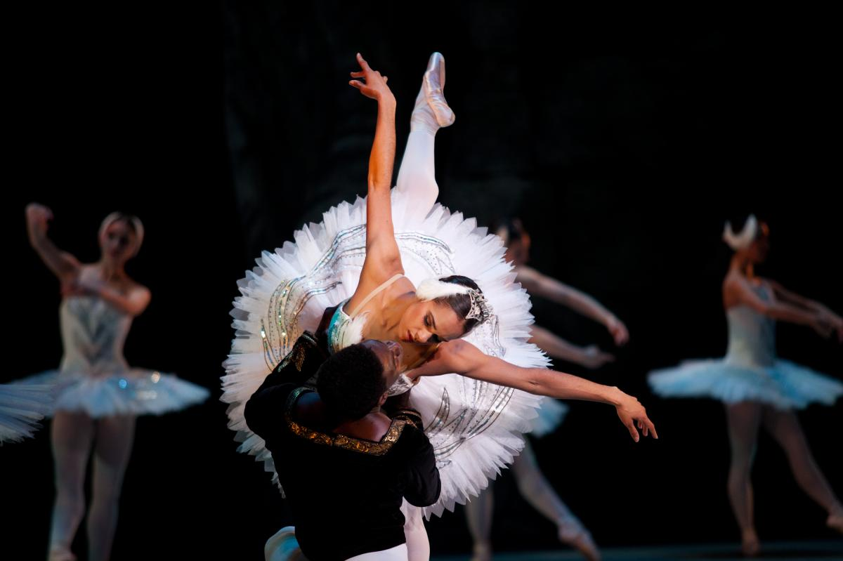 This is the first year that two African-American dancers will star in The Washington Ballet's production of Swan Lake: Misty Copeland, soloist with American Ballet Theatre, dances the dual role of Odette and Odile; Brooklyn Mack of The Washington Ballet i