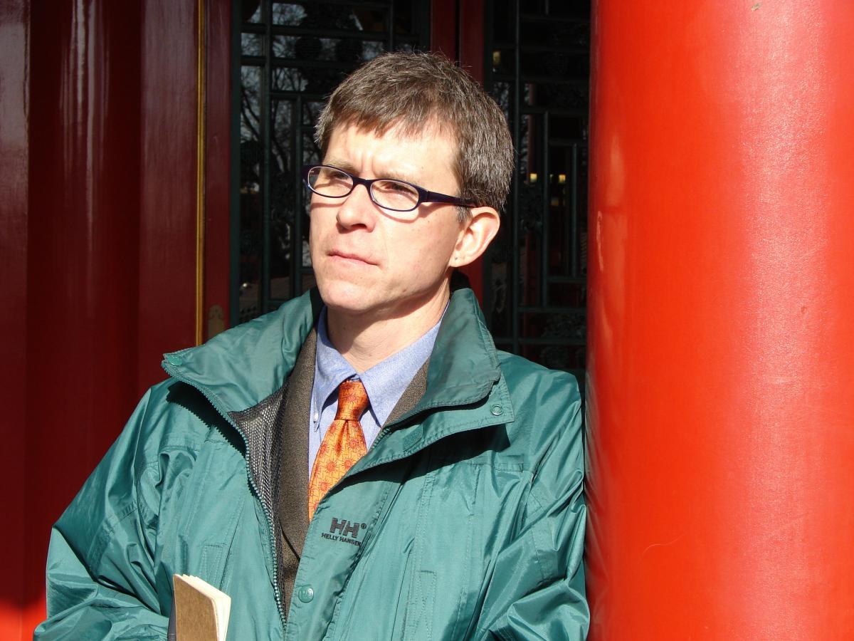 Georgetown University professor Jim Millward, photographed in Beijing's Forbidden City.