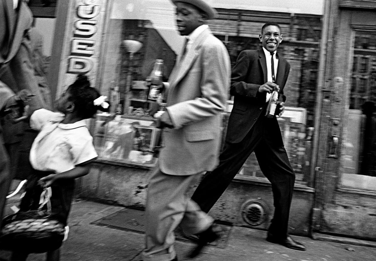 Blacks + Pepsi, Harlem, 1955