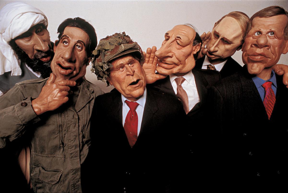 Les Guignols de l'Info, satirical television, Paris, 2002