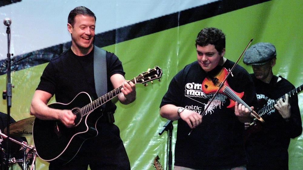 Martin O'Malley performs with his Irish rock group, O'Malley's March, in Baltimore in 2002.