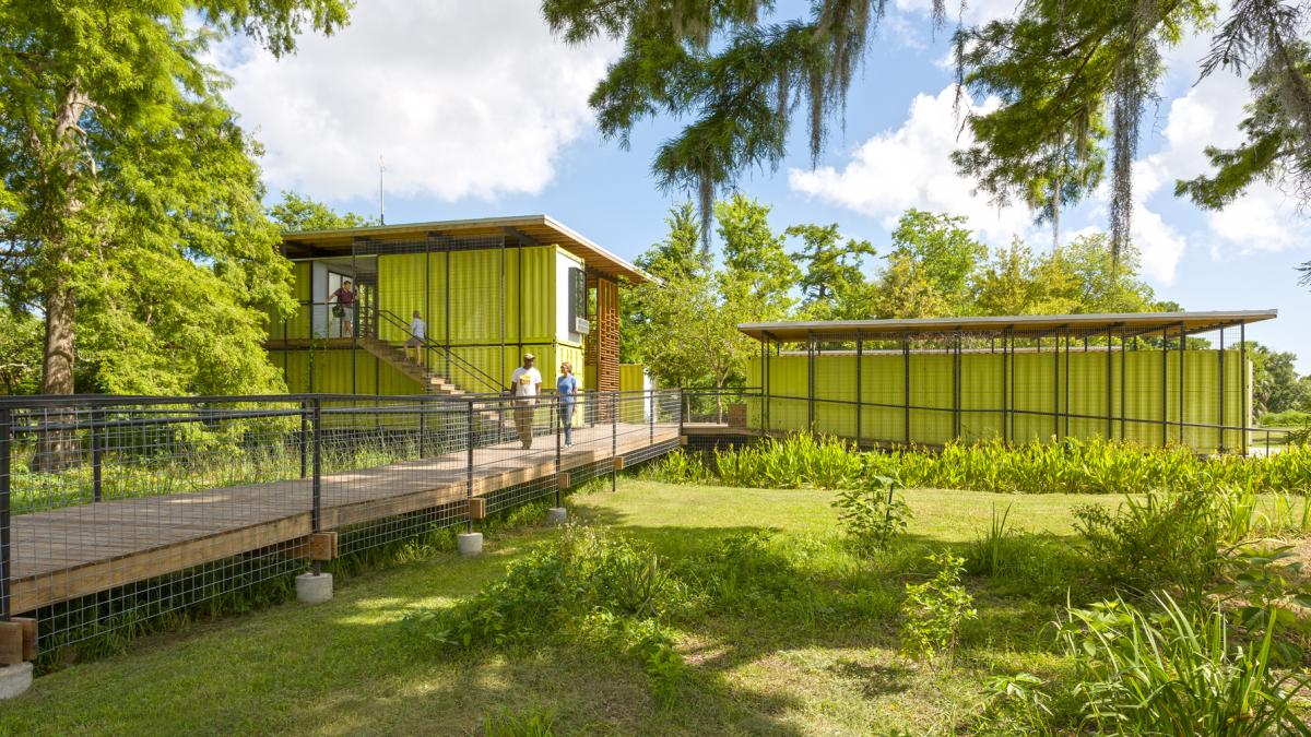 The Tulane City Center helped design and build New Orleans' Grow Dat Youth Farm, which employs local, disadvantaged high school students and teaches them about urban agriculture.
