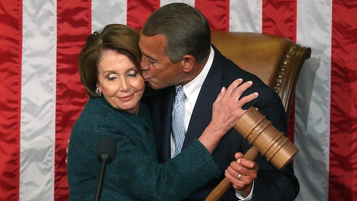 House Speaker John Boehner takes the gavel from Democratic Minority Leader Nancy Pelosi Jan. 6 at the start of the 114th Congress.