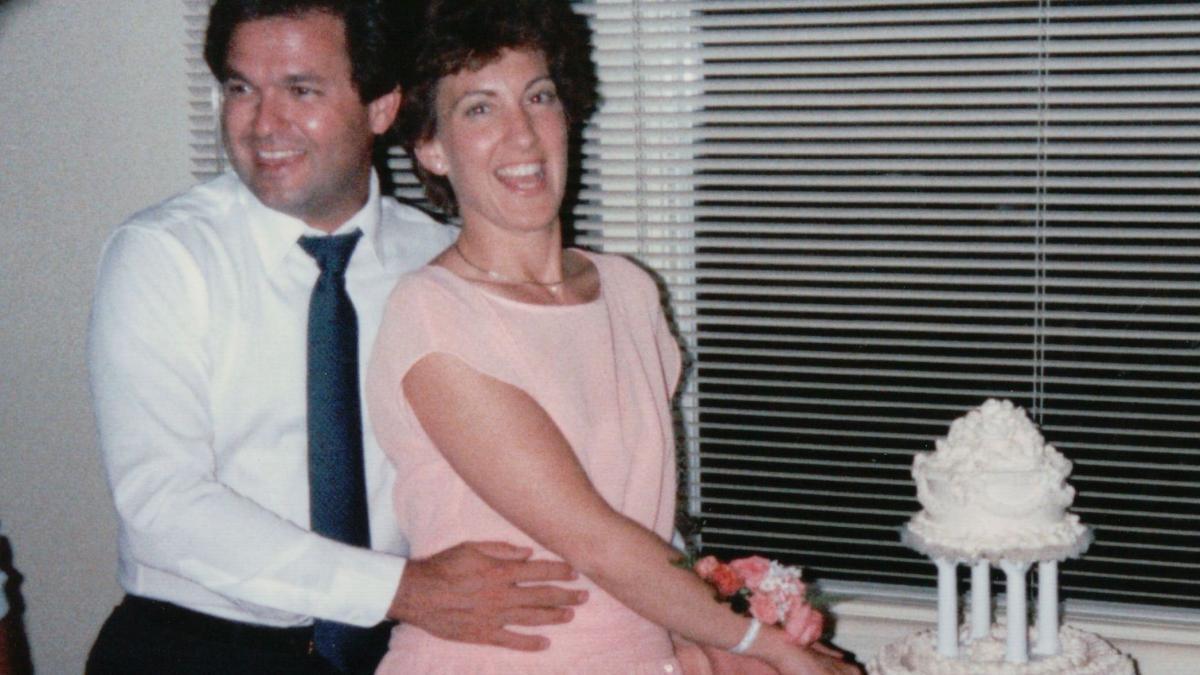 Fiorina's 1985 wedding to her husband Frank.