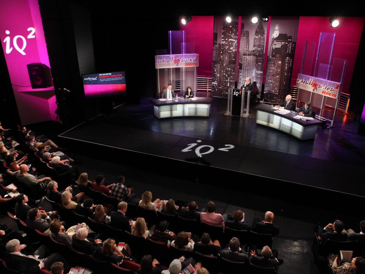 Two teams face off in a debate over the extent of the president's war powers at the latest debate from Intelligence Squared U.S.